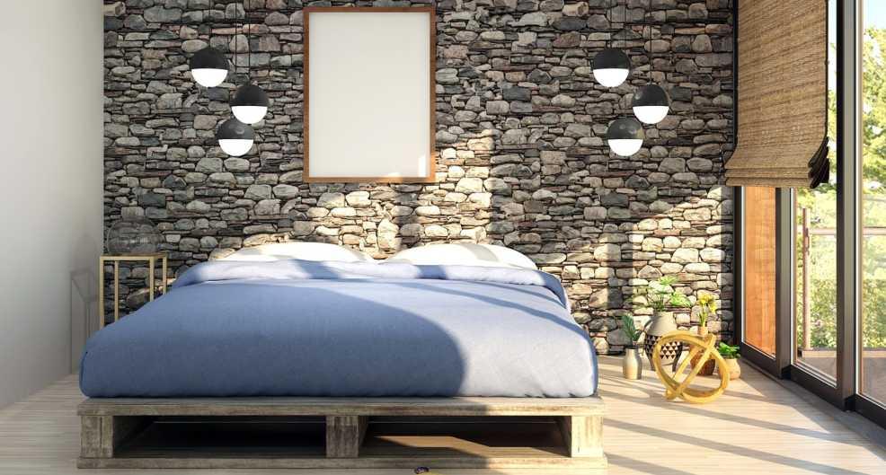 dormitorio con colchon inflable